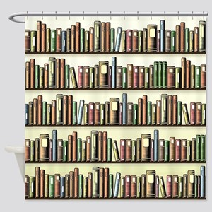 Reading Room Bookshelf Shower Curtain