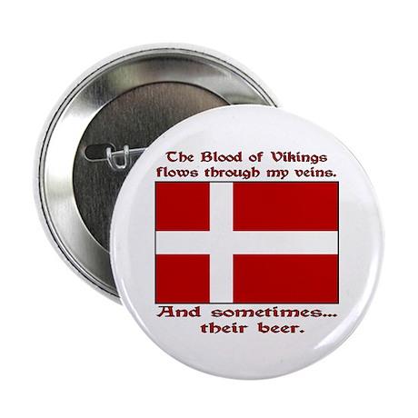 "Danish Viking & Beer 2.25"" Button (100 pack)"