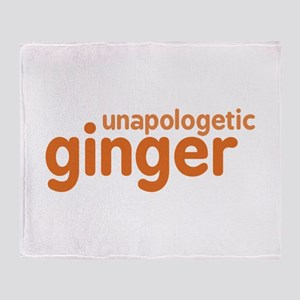 Unapologetic Ginger Throw Blanket
