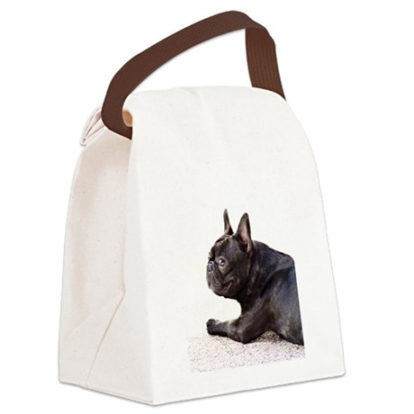 french bulldog a.jpg Canvas Lunch Bag