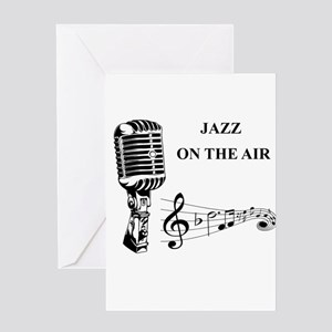Jazz on the air! Greeting Card
