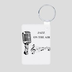 Jazz on the air! Aluminum Photo Keychain