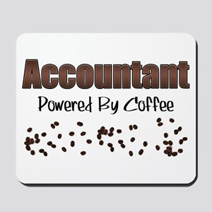 Accountant: Powered By Coffee Mousepad