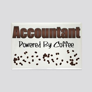 Accountant: Powered By Coffee Rectangle Magnet