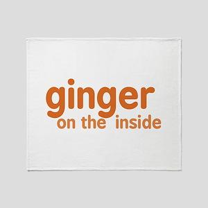 Ginger on the Inside Throw Blanket