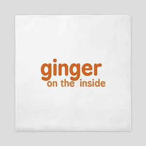 Ginger on the Inside Queen Duvet