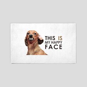 Happy Face Dachshund 3'x5' Area Rug