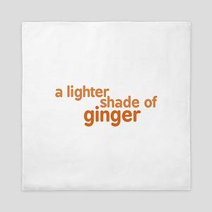 Lighter Shade of Ginger Queen Duvet