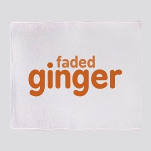 Faded Ginger Throw Blanket