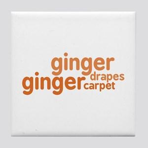 Ginger Drapes & Carpet Tile Coaster