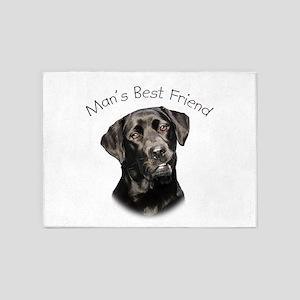 Mans Best Friend 5'x7'Area Rug