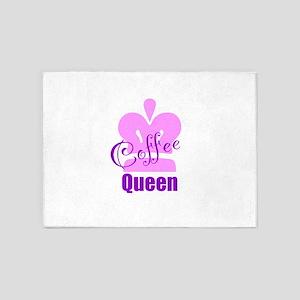 Coffee Queen 5'x7'Area Rug