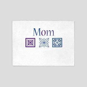 Mom Quilt Blocks 5'x7'Area Rug