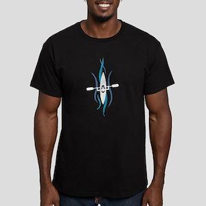 Current Kayak Men's Fitted T-Shirt (dark)