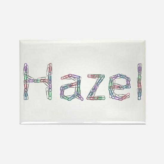 Hazel Paper Clips Rectangle Magnet