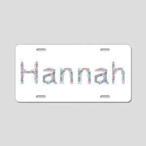 Hannah Paper Clips Aluminum License Plate