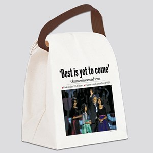 Obama: Best is Yet to Come Canvas Lunch Bag