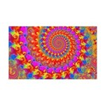 Psychedelic Pink Fractal Art 35x21 Wall Decal