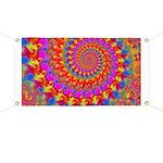 Psychedelic Pink Fractal Art Banner