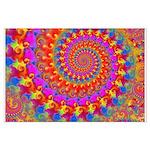 Psychedelic Pink Fractal Art Large Poster
