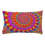 Psychedelic Pink Fractal Art Pillow Case