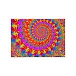 Psychedelic Pink Fractal Art 5'x7'Area Rug