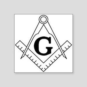 "Freemason Symbol Square Sticker 3"" x 3"""