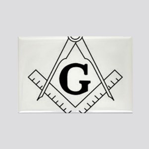 Freemason Symbol Rectangle Magnet