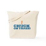 Chuck on Three Tote Bag