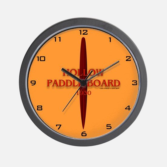 1930 Hollow Paddle Board Wall Clock