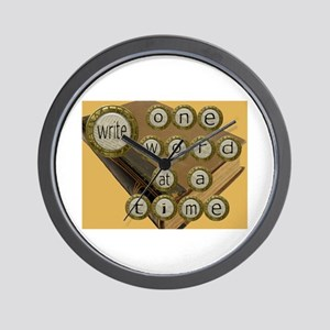 One Word at a Time Wall Clock
