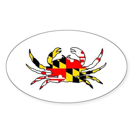 Maryland Crab Sticker (Oval)