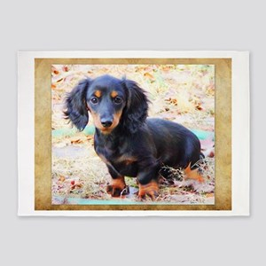 Puppy Love Doxie 5'x7'Area Rug