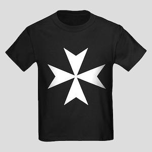 whitecrossmaltese Kids Dark T-Shirt