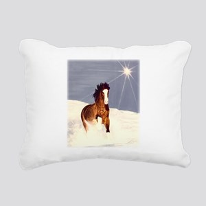 Starlight Snow Run Rectangular Canvas Pillow