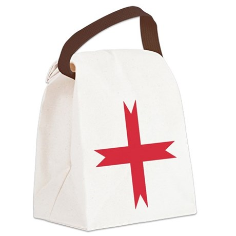 templarcrossfork.png Canvas Lunch Bag