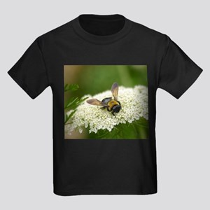Bee-cause She Loves Queen Anne's Lace Kids Dark T-