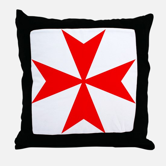 redcrossmaltese.png Throw Pillow