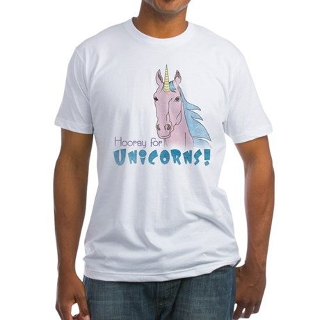 Hooray for Unicorns Fitted T-Shirt