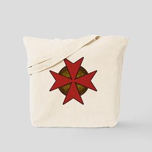 maltesecrossgoldred Tote Bag