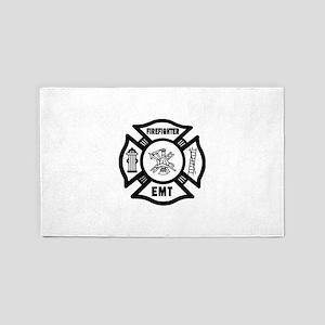 Firefighter EMT 3'x5' Area Rug