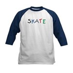 kid's SKATE Baseball Jersey (comes in red & blk)