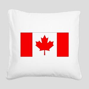 Canada Square Canvas Pillow