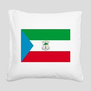 Equatorial Guinea Square Canvas Pillow