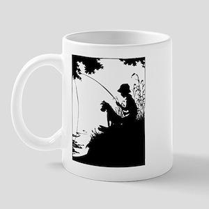 Old Timey Boy Fishing Mug