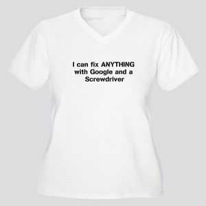 I can fix anything Women's Plus Size V-Neck T-Shir