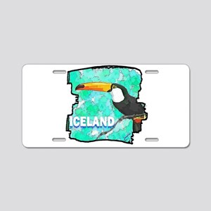 iceland puffin art illustration Aluminum License P