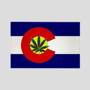 Colorado Marijuana Rectangle Magnet