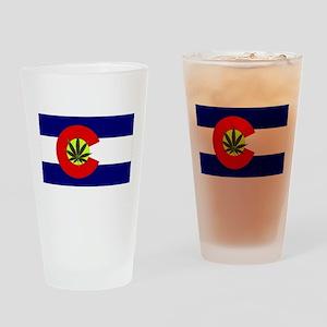 Colorado Marijuana Drinking Glass