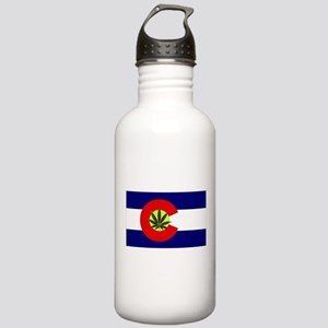 Colorado Marijuana Stainless Water Bottle 1.0L